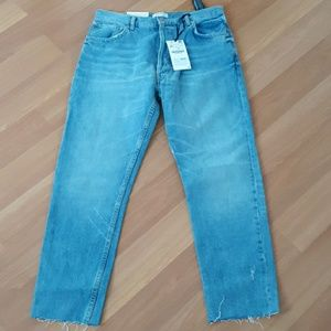 NWT Zara high rise straight leg jeans